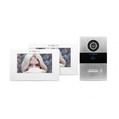 Zestaw wideodomofonowy IP Vidiline jednorodzinny z 2 monitorami