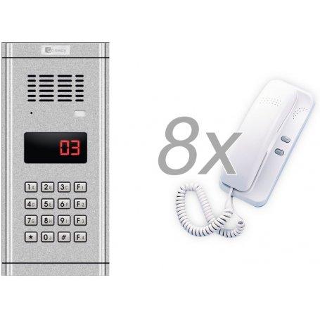 Zestaw domofonowy 8 rodzinny GENWAY WL-03NL